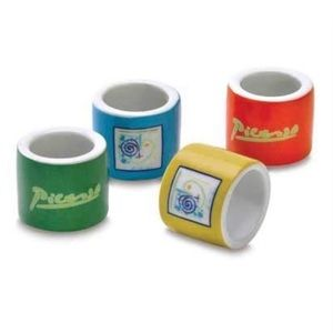 Set of 4 Picasso Napkin Rings
